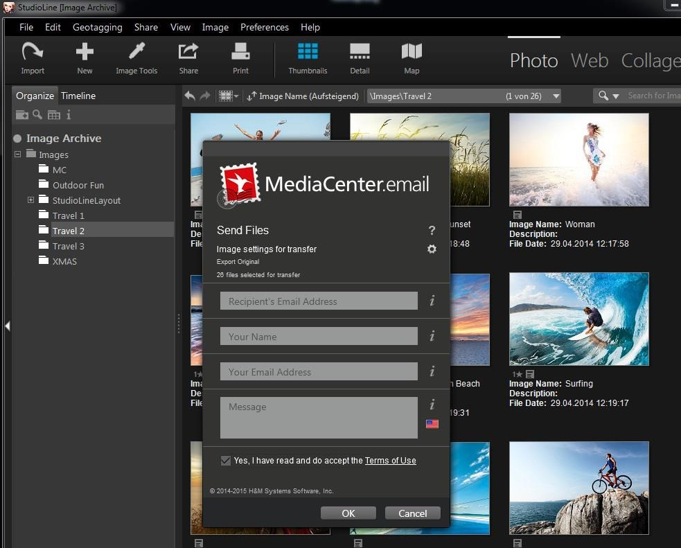 MediaCenter.email now with folders